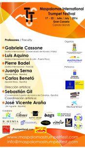 CARTEL IV FESTIVAL INTERNACIONAL DE TROMPETA