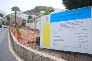 Imagen de las obras de reforma de la escalera en Puerto Rico, Mogán2