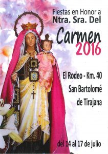 PORTADA FIESTAS DEL CARMEN 2016 - EL RODEO KM 40