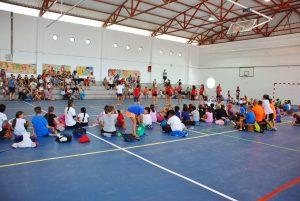 Imagen de la clausura de la Escuela Deportiva de Verano de Mogán 2016
