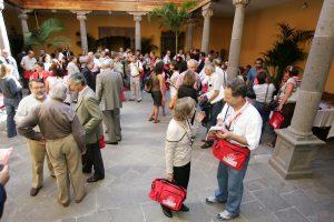 FOTO QUIQUE CURBELO 131008 EL PRESIDENTE DEL CABILDO DE GRAN CANARIA, JOSE MIGUEL PEREZ,ASISTE A LA INAUGURACION DE XVIII COLOQUIO DE HISTORIA CANARIO-AMERICANA, CASA MUSEO DE COLON
